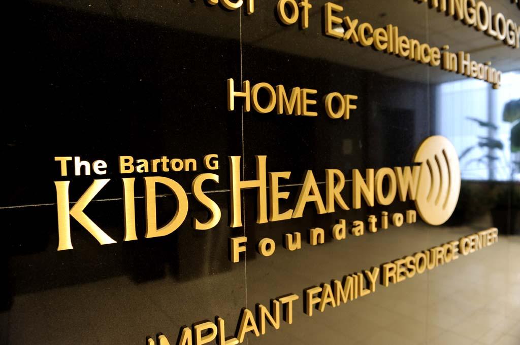 THE BARTON G. KIDS HEAR NOW FOUNDATION